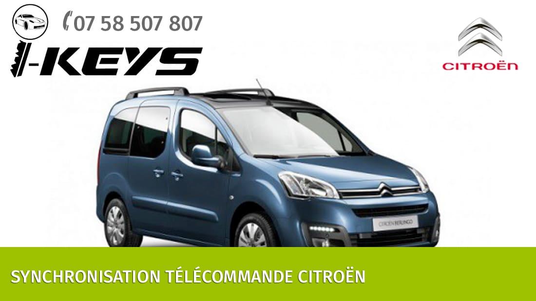 Synchronisation télécommande Citroën