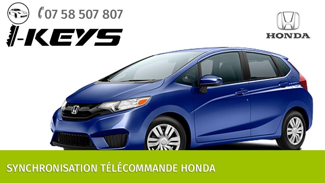 Synchronisation télécommande Honda