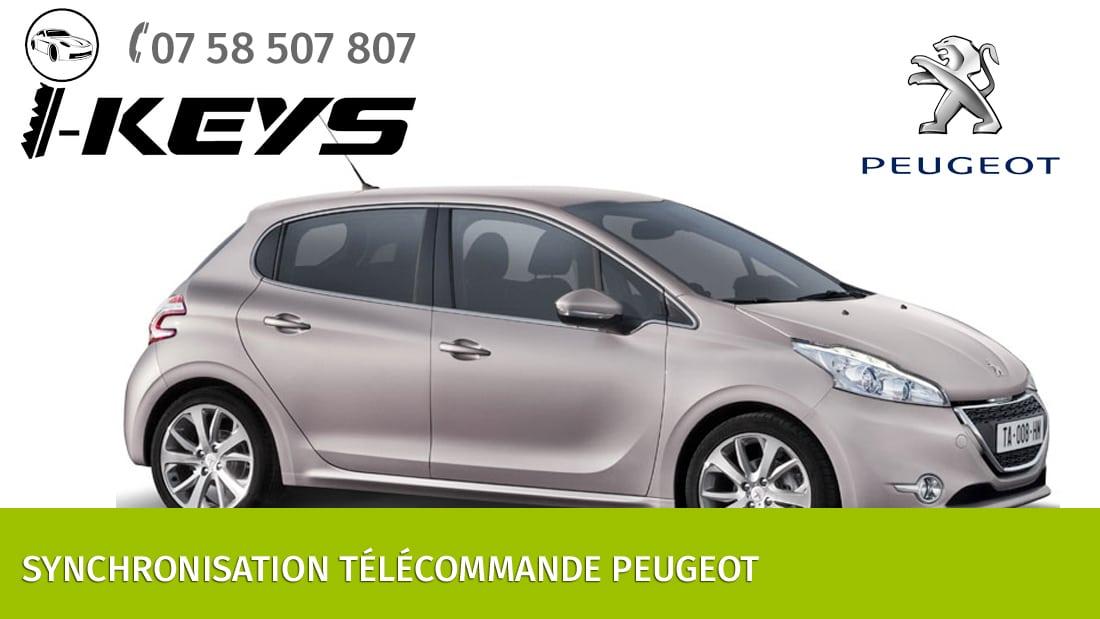 Synchronisation télécommande Peugeot